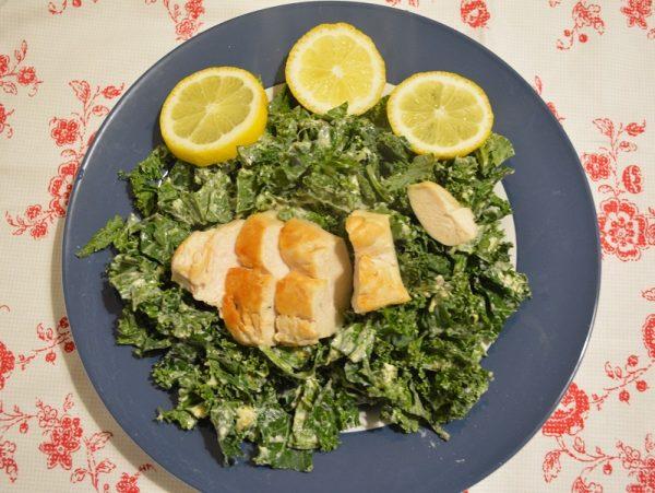 Grünkohl-Salat à la Caesar
